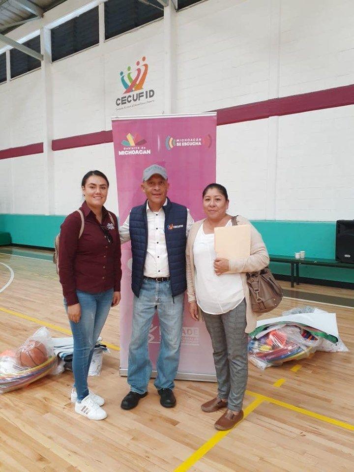 El Gobierno del Estado dona Equipo Deportivo para Chilchota
